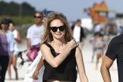 Heather Graham Denim Shorts
