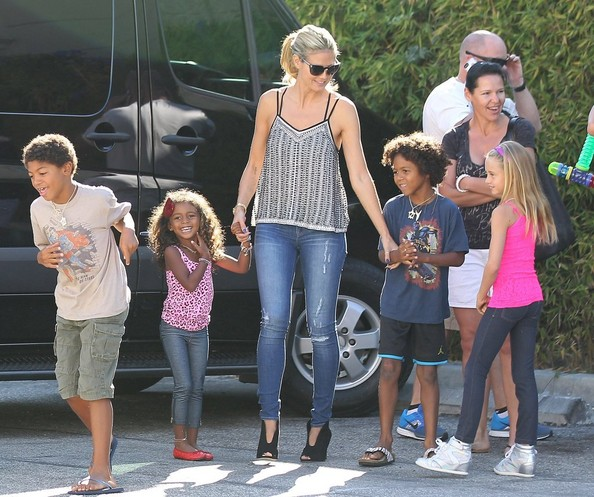 Heidi Klum and Family Shop at Petco