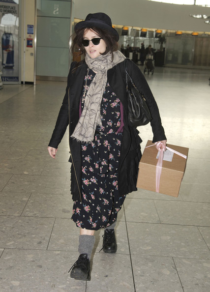 Helena Bonham Carter Wool Coat