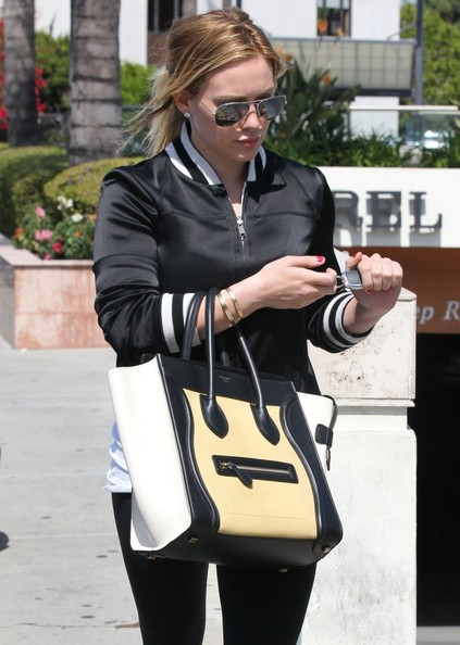 More Pics of Hilary Duff Leather Tote (1 of 9) - Hilary Duff Lookbook - StyleBistro
