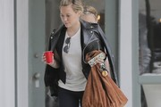 Hilary Duff Suede Hobo