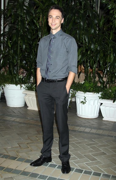 More Pics of Jim Parsons Striped Tie (1 of 2) - Striped Tie Lookbook - StyleBistro