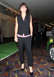 These ankle-length pants were flattering on Francesca Schiavone.