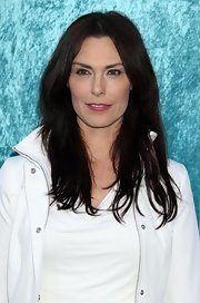 Michelle Forbes showed off her long straight locks while hitting the premiere of Hung.