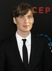 Cillian Murphy showed off his side swept short mane while walking the red carpet at the 'Inception' premiere.