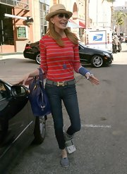 Shawn Southwick sported a pair of classic skinny jeans for her casual daytime look.