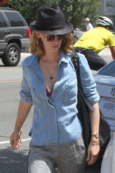 January Jones Straw Hat