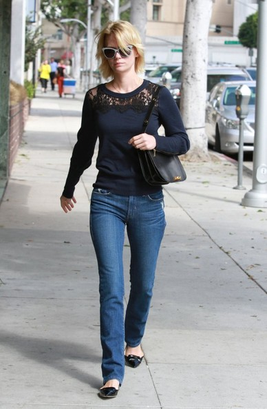 January Jones Leather Shoulder Bag []