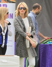 January Jones kept a low profile with a pair of square tortoiseshell sunglasses while out in New York City.
