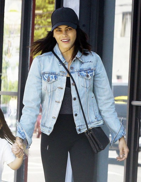 Jenna Dewan-Tatum kept it casual in a black baseball cap and a denim jacket while out and about in Studio City.