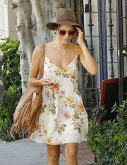 Jenna Dewan-Tatum geared up with a walker hat and a pair of shades for a sunny day out in Hollywood.