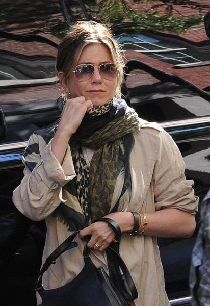 aniston patterned scarf aniston looks