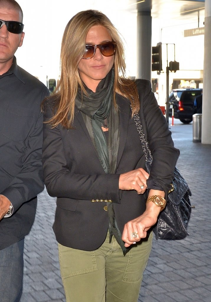 aniston silk scarf aniston looks