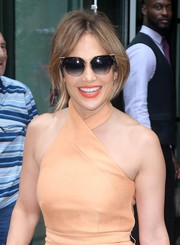 Jennifer Lopez went shopping in New York City wearing a cool pair of Fendi cateye sunnies.