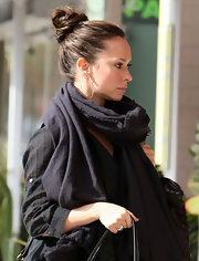 Jennifer Love Hewitt hit the streets of Studio City donning a chic twisted bun.
