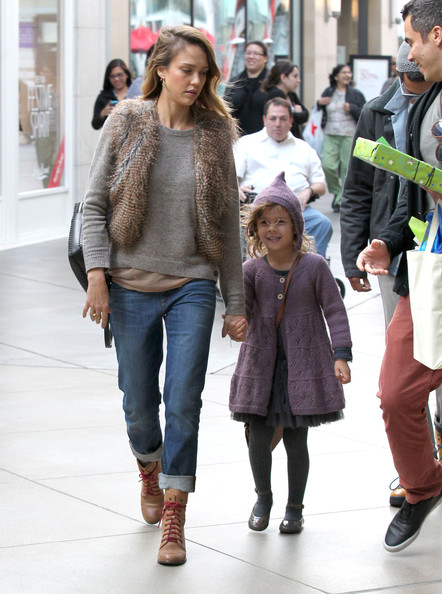 More Pics of Jessica Alba Lace Up Boots (1 of 40) - Lace Up Boots Lookbook - StyleBistro