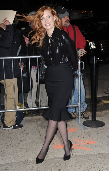 More Pics of Jessica Chastain Oversized Tote  (1 of 9) - Jessica Chastain Lookbook - StyleBistro []