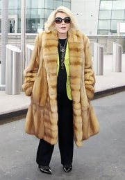 Joan Rivers braved the cold of NYC in a luxurious fur coat.