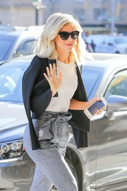 Julianne Hough enjoyed a sunny day out wearing cute cateye sunnies by Elizabeth and James.