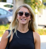 Julianne Hough chose modern clear-rimmed sunglasses by John Varvatos when she stepped out for dance class.