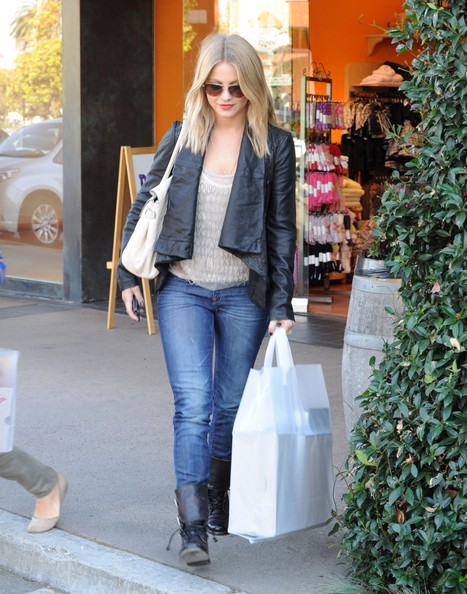 More Pics of Julianne Hough Leather Jacket (1 of 10) - Julianne Hough Lookbook - StyleBistro