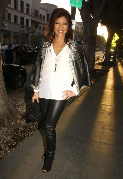 More Pics of Julie Chen Leather Pants (1 of 6) - Leather Pants Lookbook - StyleBistro