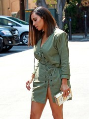 Kim Kardashian made an ultra-elegant choice with this Louis Vuitton Petite Malle clutch for a day out in West Hollywood.