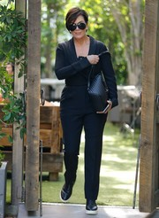 Kris Jenner filmed scenes for her reality show wearing this black pantsuit.