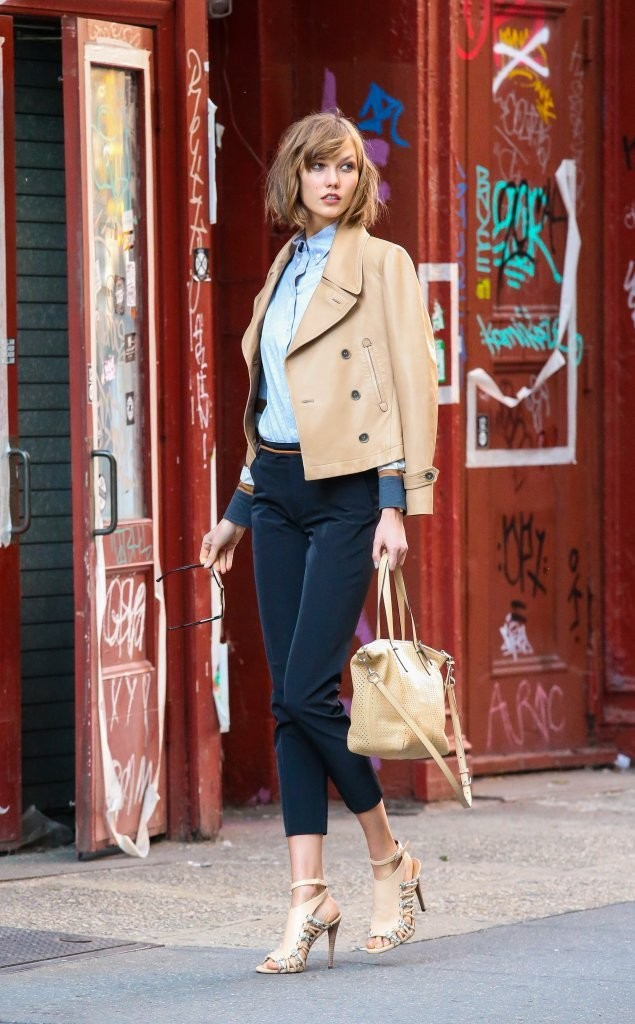 Karlie Kloss Poses in NYC