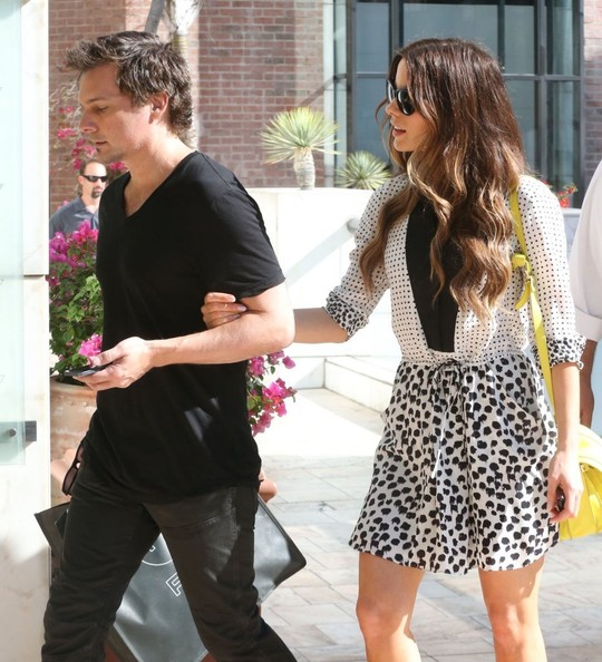 Kate Beckinsale Print Dress
