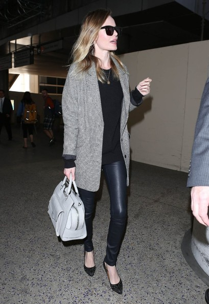 More Pics of Kate Bosworth Leather Pants (1 of 12) - Leather Pants Lookbook - StyleBistro