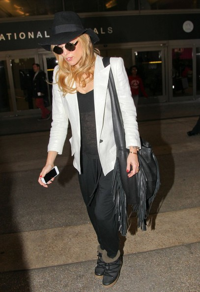 Kate Hudson Tasseled Hobo Bag
