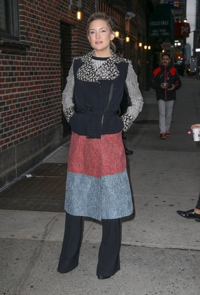 Kate Hudson Tweed Coat