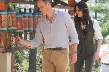 Kate Middleton Prince William Prince William and Kate Middleton Go on a Hike in Bhutan