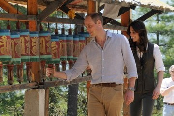 Kate Middleton Prince William Prince William and Kate Middleton Attend a Welcoming Ceremony in Bhutan