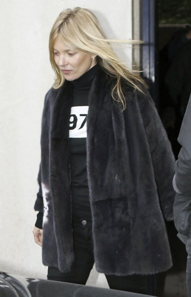 Kate Moss Enjoys A Smoke in London