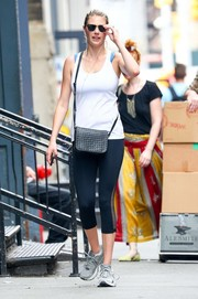 Kate Upton went out for a stroll in New York City wearing a simple white tank top.