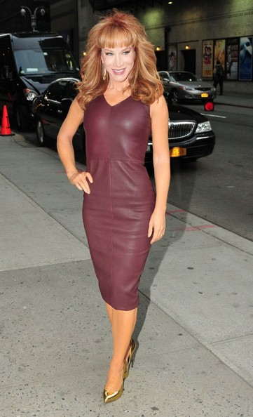 Kathy Griffin Leather Dress