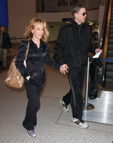 Kathy Griffin & Randy Bick Departing On A Flight At LAX