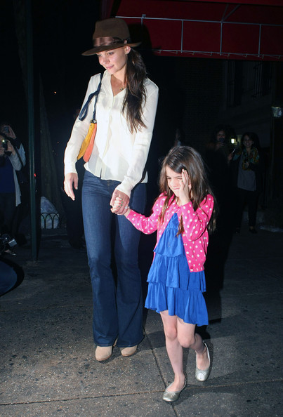 More Pics of Katie Holmes Bootcut Jeans (2 of 9) - Jeans Lookbook - StyleBistro []