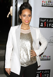 Alicia Keys wore her hair in an edgy pompadour at the Keep A Child Alive's 8th Annual Black Ball.