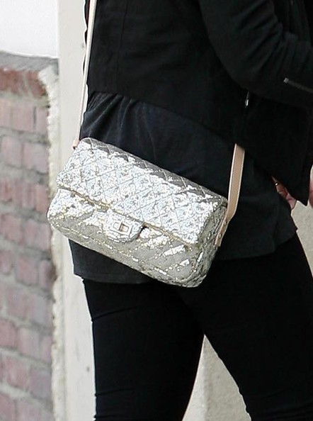 Kelly Osbourne Metallic Shoulder Bag