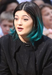 Kylie Jenner showed off a fun-looking blue-dyed bob on 'Good Morning America.'