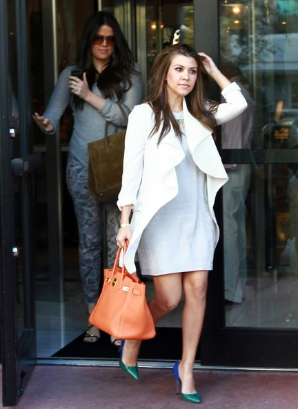 More Pics of Kourtney Kardashian Wool Coat (1 of 24) - Outerwear Lookbook - StyleBistro