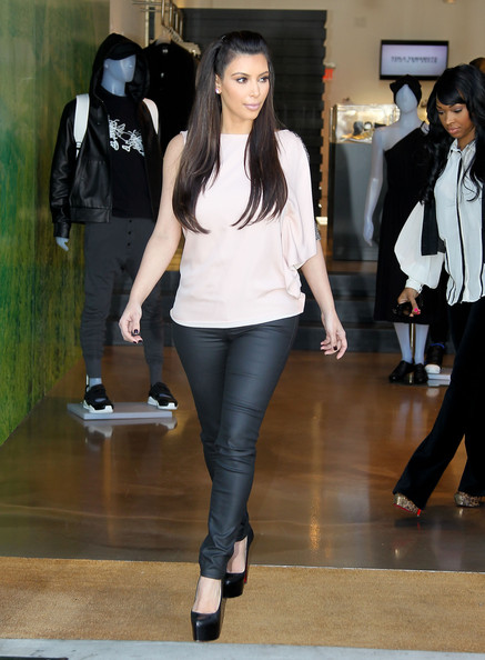 Kim+Kardashian in Kim Kardashian Checks Out Retail Space For Lease