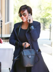 Kris Jenner opted for classic aviators when she stepped out for lunch.