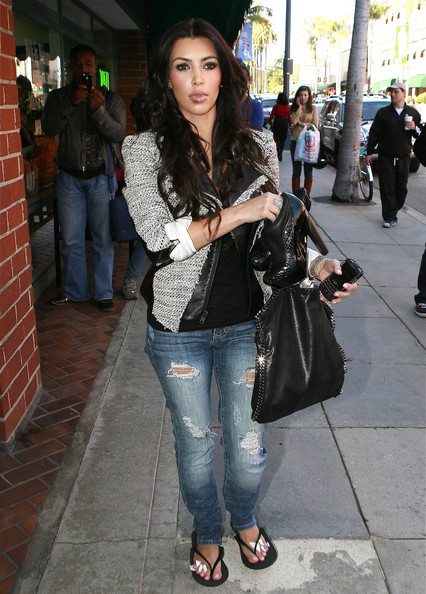 Kim Kardashian Leather Hobo Bag
