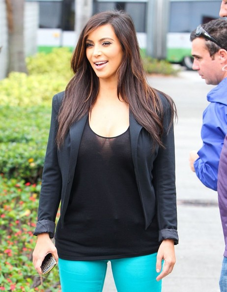 More Pics of Kim Kardashian Skinny Jeans (1 of 50) - Kim Kardashian Lookbook - StyleBistro