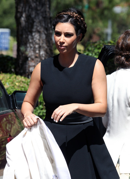 More Pics of Kim Kardashian Braided Updo (1 of 86) - Updos Lookbook - StyleBistro
