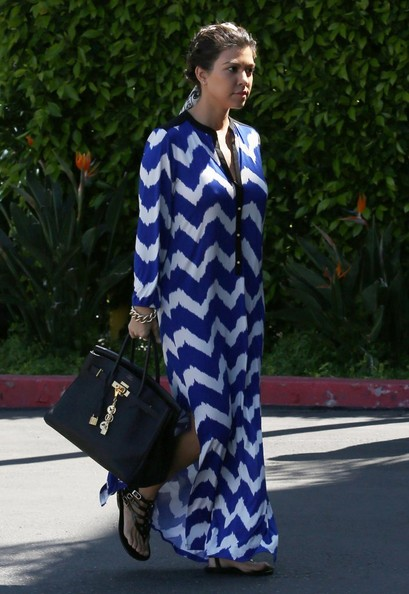 Kourtney Kardashian Print Dress